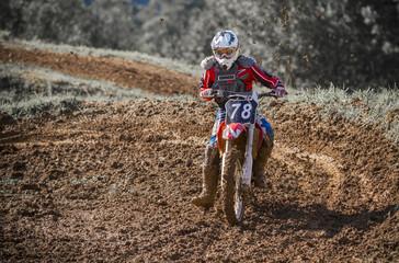 Barro en motocross