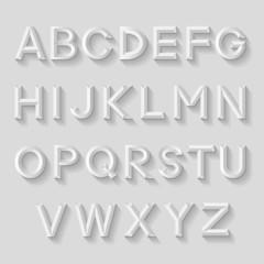 Decorative emboss alphabet