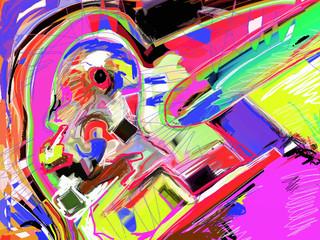 abstract art digital painting