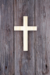 cross christian wooden wall old church background