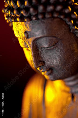 Spoed canvasdoek 2cm dik Standbeeld Buddha statur glaube