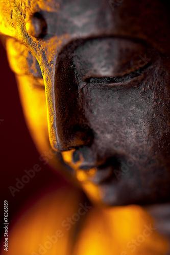 Poster Standbeeld Buddha figur kopf