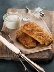 Chicken or pork schnitze