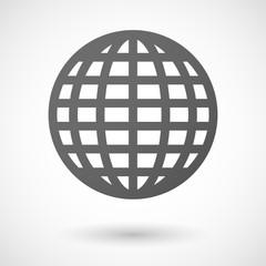 world globe  icon on white background