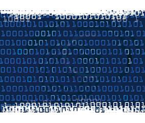 Binary code grunge background