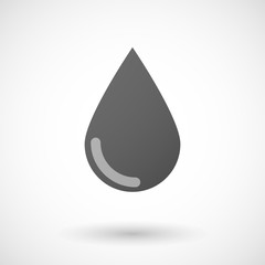 blood drop  icon on white background