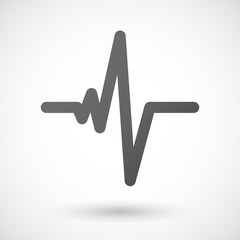 heart beat  icon on white background