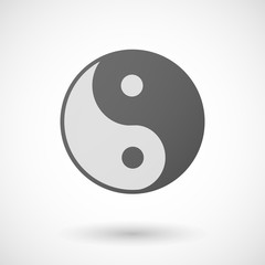 ying yang  icon on white background