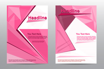 Abstract Brochure Flyer pink design vector template A4   V.6