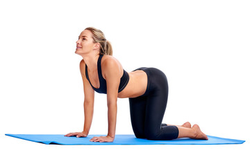 Yoga women isolated