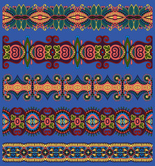 seamless ethnic floral paisley stripe pattern