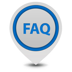 faq pointer icon on white background