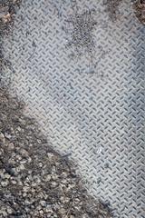 Dirty industrial grip floor texture