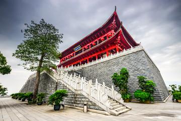 Historic Chinese Tower in Fuzhou, China