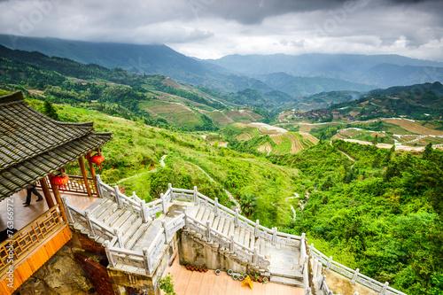 Village on Yaoshan Mountain in Guangxi, China - 76366972
