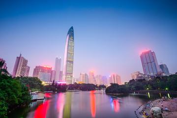 Shenzhen, China Cityscape at Lychee Park