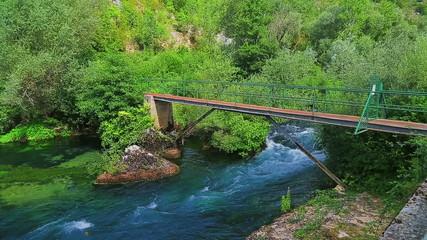 Krka river footbridge