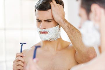 Bad shaver.