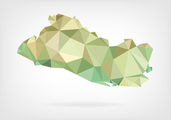 Low Poly map of El Salvador
