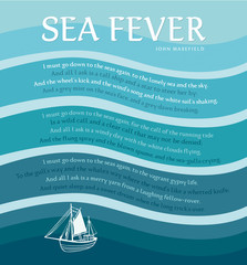 The Poem Sea Fever by english author John Masefield