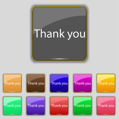 Thank you sign icon. Gratitude symbol. Circles and