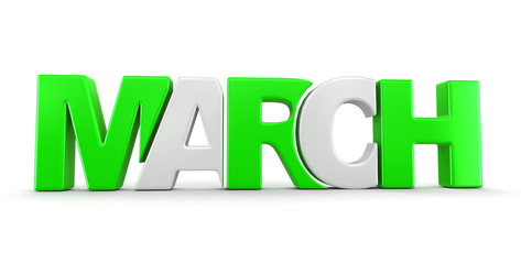 March  (clipping path included)