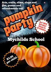 Halloween Pumpkin Party Flier