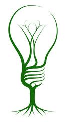 Lightbulb tree concept