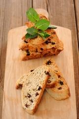 Italian biscotti with fresh mint