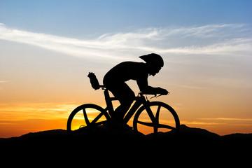 Cycling at mountain