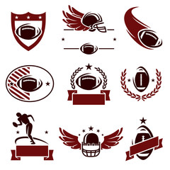 Football labels and icons set. Vector