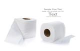 White tissue paper on white background - 76370339