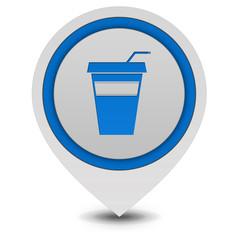 Cola pointer icon on white background