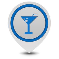 Drink pointer icon on white background