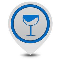 Wine pointer icon on white background
