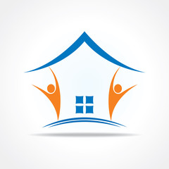 People icon make a home icon stock vector