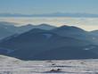 canvas print picture - Schwarzwald mit Alpen
