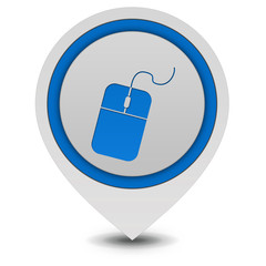 Computer mouse pointer icon on white background