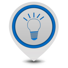 Light bulb pointer icon on white background