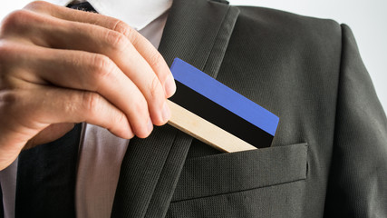 Wooden card painted as the Estonian flag