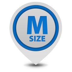 M size pointer icon on white background