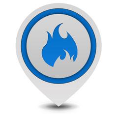Fire pointer icon on white background