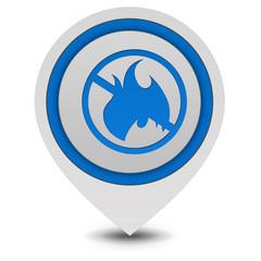 Fire ban pointer icon on white background
