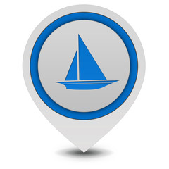Boat pointer icon on white background