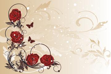 roses figées