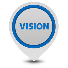 Vision pointer icon on white background