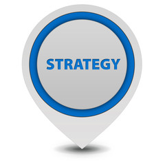 Strategy pointer icon on white background