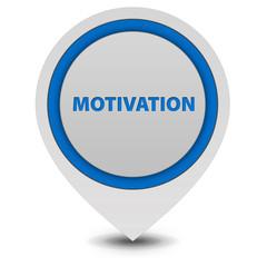 Motivation pointer icon on white background