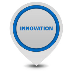 Innovation pointer icon on white background