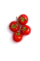 Top view of fresh tomatoes